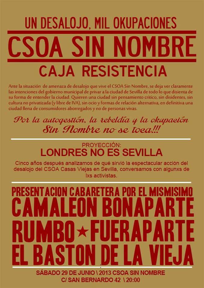 Concierto Caja de Resistencia CSOA Sin Nombre