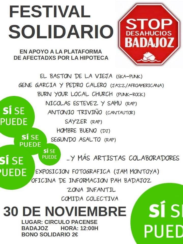Festival Solidario PAH Badajoz