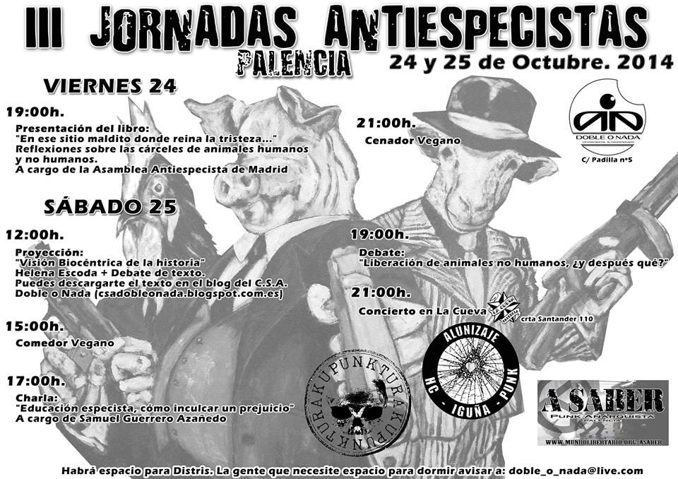 III Jornadas Antiespecistas Palencia