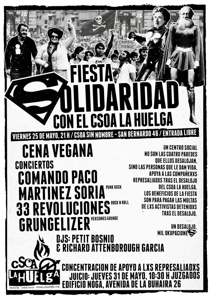 Fiesta Solidaria con el CSOA La Huelga