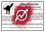 Concentración en apoyo al CSO La Casika (Móstoles)